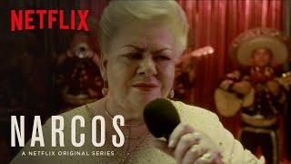 Narcos   Clip: Paquita la del Barrio Sings to Pablo Escobar   Netflix