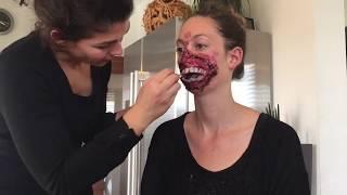Gruselmaske mit Dermawax - Halloween-Schminkidee im Zeitraffer / Timelapse-Tutorial