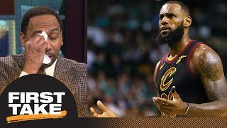 Stephen A. mockingly cries for LeBron James after new-look Cavaliers debut   First Take   ESPN