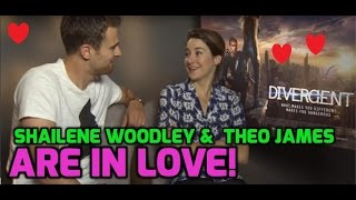 Shailene Woodley and Theo James discuss falling in love in Divergent
