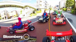 Real-Life Mario Kart in Tokyo in 360