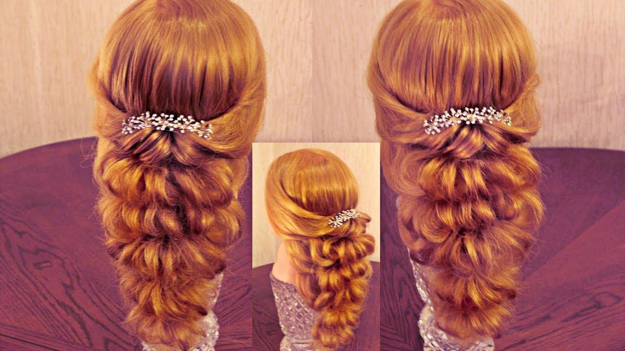 """Причёска с помощью резинок """"Средняя прядь"""" - Красота! - Hairstyles by REM - Bayan.Tv - Bayana dair. - Video Portal"""