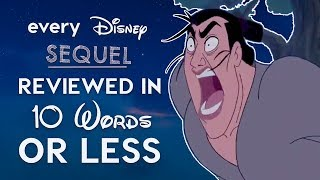 Every Bad Disney Sequel Reviewed in 10 Words or Less!