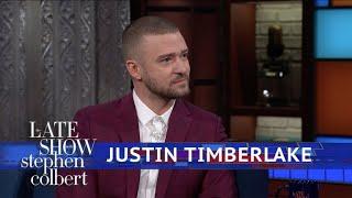 Justin Timberlake And Stephen Harmonize The National Anthem