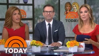Kathie Lee And Hoda Surprise Christian Slater With A Cake For His Birthday   TODAY