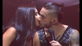Maluma besa una fan / kisses BEAUTIFUL fan on stage (World Tour - Amsterdam, Afas Live 28.09)