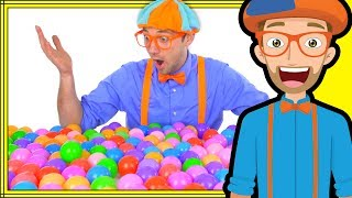 Blippi Plays and Learns at the Indoor Playground | Learn Colors and More!