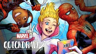 Spidey Selfie by Irene Strychalski - Marvel Quickdraw