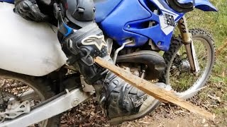 DIRTBIKER GETS SPEARED THROUGH LEG AND LIVES!!!