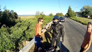 First Time Rider Crashes Motorcycle