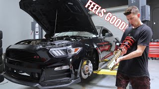 Mustang GT gets LOW & STIFF! (Full Roush kit!)