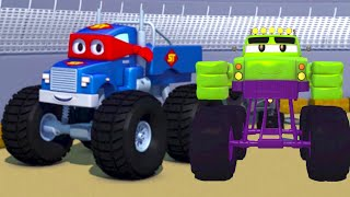 Marley der Monster Truck - Carl der Transformer Truck in Autopolis  🚚 ⍟| Lastwagen Bau Cartoons