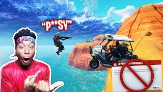 I GOLF CARTED MY SKULL TROOPER PARTNER OFF THE MAP! Fortnite: Battle Royale GONE INSANE!