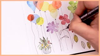 Watercolor Doodle Ideas for Beginners   Art Journal Thursday Ep. 8