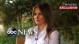Melania Trump says president