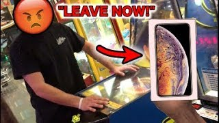 KICKED OUT BY CRAZY MANAGER FOR WINNING Apple iPhone XS!!   JOYSTICK