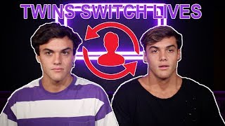 TWINS SWITCH LIVES FOR A DAY