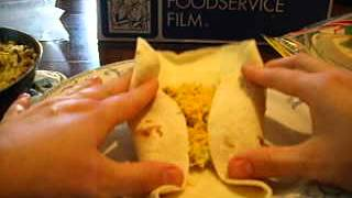Stuffing/Folding Breakfast Burritos