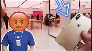 TAKING A FAKE iPhone X TO THE Apple Store!