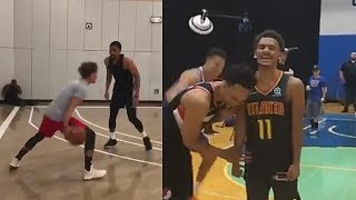 Trae Young Destroys NBA Players With Carmelo Anthony and Has a 3 Point Contest vs Michael Porter Jr.