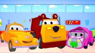 Die Lackierwerkstatt von Tom dem Abschleppwagen : Klein Amber-Masha und Ethan der Bär / Cartoons