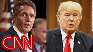 Jeff Flake caught on hot mic talking about Trump