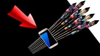 EXPERIMENTE Galaxy S7 mit Rakete hoch schießen | Aqualinos VS Böller 🍎