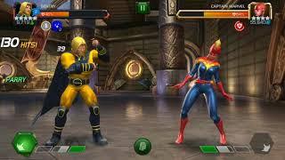 5* Rank 4 Sentry gameplay vs. Realm of Legends Captain Marvel