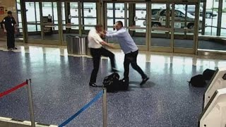 Plane Passenger Spotted Shoving Pilot in the Middle of Terminal