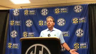 Nick Saban talks Alabama QB, transfers, NCAA rules and
