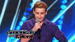 Josh Orlian: 12-Year-Old Standup Comedian Gets Naughty on AGT Stage - America
