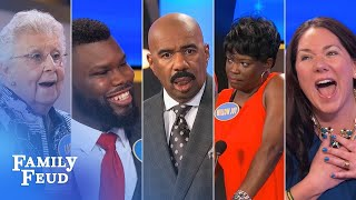ALL-TIME GREATEST MOMENTS in Family Feud history!!! | Part 12 | The absolute craziest of all crazy