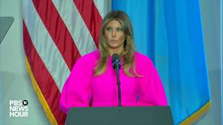 WATCH: First Lady Melania Trump discusses children