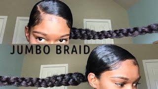 Jumbo Braid ponytail With Kanekalon Hair    Natural Hair