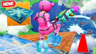 *NEW* FREEZE TRAP From *MAX HEIGHT* In Fortnite Battle Royale!