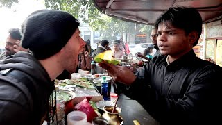 American Tries INDIAN STREET FOOD in Chandni Chowk | Delhi, India