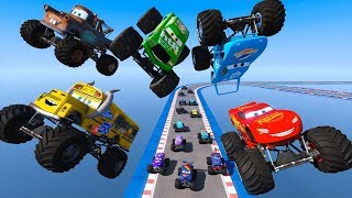 Race Cars Monster Trucks McQueen Miss Fritter The King Chick Hicks Mater and Cars Friends for Kids