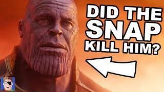 Did The Snap Kill Thanos? | Infinity War Theory