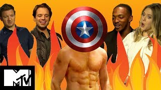 Captain America | Civil War Cast Play GUESS THE MARVEL ABS!! | MTV