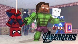 Monster School: BECOMING A SUPERHERO CHALLENGE - Minecraft Aimation