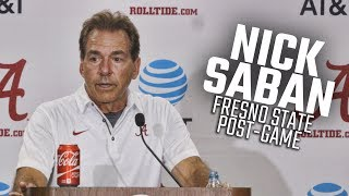 What Nick Saban said after Alabama dominated Fresno State