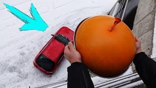 EXPERIMENT - 20 kg Antistress aus Aqualinos auf das Auto schmeißen