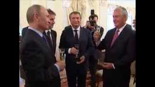 Putin wishes Exxon and Rosneft success in joint oil project