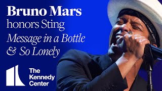 Bruno Mars - So Lonely, Message In a Bottle (Sting Tribute) - 2014 Kennedy Center Honors
