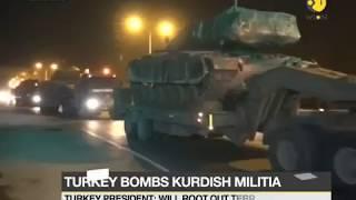 Turkish bomb Kurdish militia