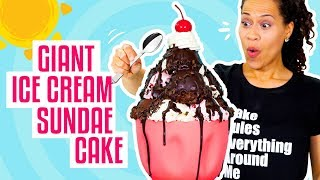 How To Make A Giant Ice Cream Sundae out of CAKE for My BIRTHDAY! | Yolanda Gampp | How To Cake It