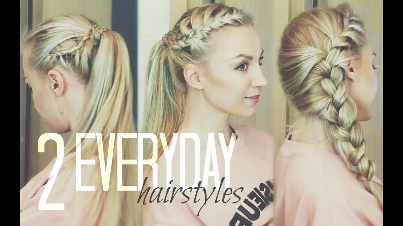 Модная причёска на каждый день в школу