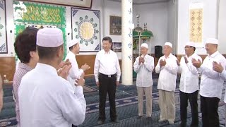 Chinese President Visits Big Mosque in Northwest China