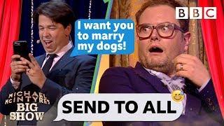Michael McIntyre's hilarious dog wedding text prank on chatty man Alan Carr 💒 🐩🐕 😂 - Send To All