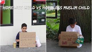 HOMELESS CHlLD VS HOMELESS MUSLlM CHlLD SOClAL EXPERlMENT (KID GOT ROBBED)MUST WATCH